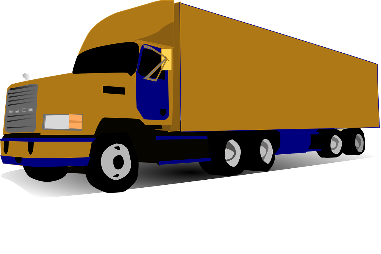 Illustration of an 18-wheeled truck
